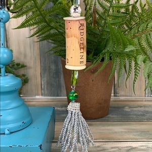 ✨🌸Wine cork Christmas tree ornament green silver